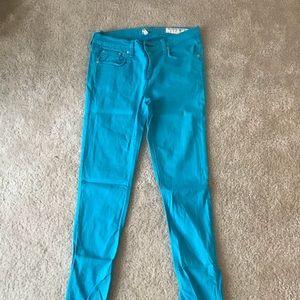 Rag and bone bright blue skinny jeans